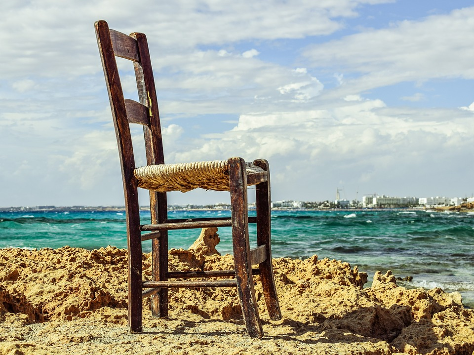 sacred space: chair by the sea