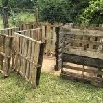 building the compost bin